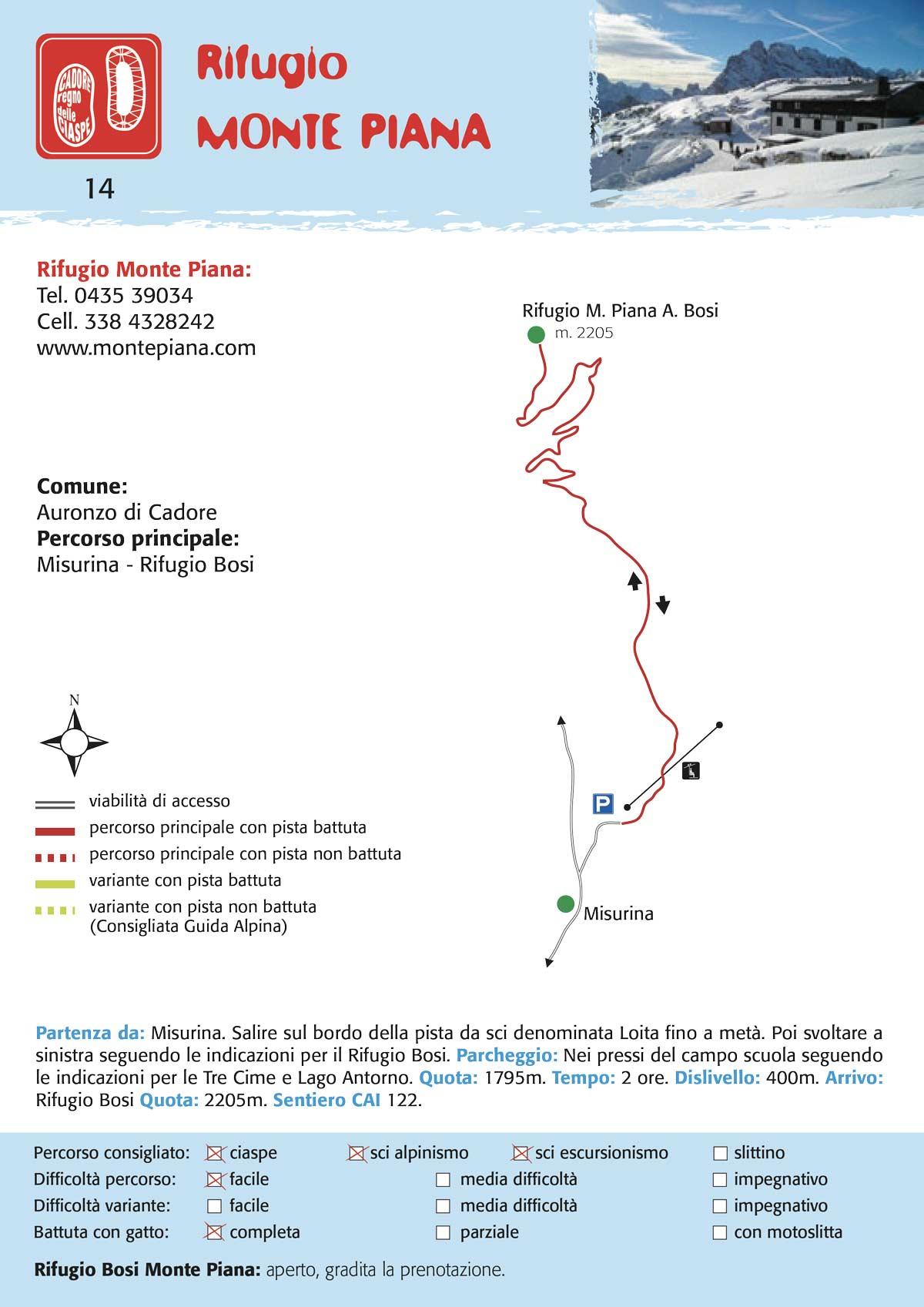 Monte Piana | Percorso per ciaspe, slittino, scialpinismo
