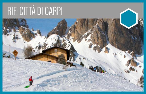 Rifugio Città di Carpi | Percorso per ciaspe, slittino, scialpinismo